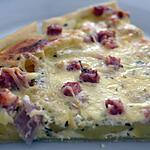 recette Pizza gourmandine aux pommes de terre, jambon et parmesan