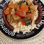 recette Couscous M-J aux merguez et poivrons