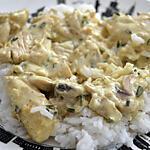 recette Sauté de dinde coco-curry
