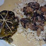 recette Paupiettes de Chou vert ( sauce forestière )