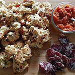 recette Cookies parmesan tomates poivrons et lardons