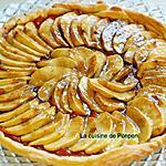 recette Tarte feuilletée aux pommes sur un lit de compote citrouille et gingembre