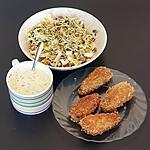 recette sardines croustillantes et sauce yaourt relevée