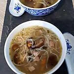recette soupe chinoise vermicelle de riz champignons noir et poulet