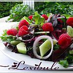recette Salade aux framboises et à l'oignon rouge
