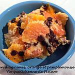 recette Flan d'agrumes, orange et pamplemousse