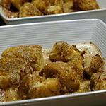 recette Gratiné de Dés de Cabillaud au Curry