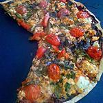 recette Pizza diététique au Saumon, Poivrons, et cancoillotte !