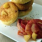 recette Magdalena con manzanas ( miel et Calvados )