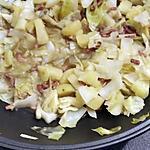 recette Wok de chou blanc aux lardons