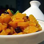 recette Salade de carottes épicée aux raisins de Corinthe...