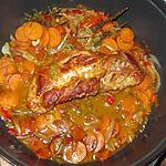recette Filet mignon de porc aux légumes, dans son jus.