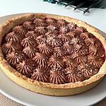 recette Tarte a la compoté de framboises ganache monté chocolat