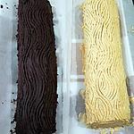 recette Bûche moka / choco noisette & chocolat noir / choco noisette