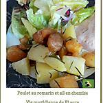 recette Poulet au romarin et ail en chemise
