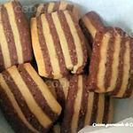 recette Biscuits marbrés au chocolat noisette et cannelle