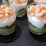 recette Verrine avocat, tomates et crevettes