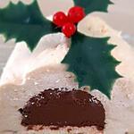 recette Bûche vanille cœur crémeux au chocolat