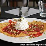 recette crêpe à la crème de pralines roses de Lyon