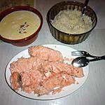recette Dos de saumon et sa sauce