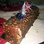 recette Buche glacé chocolat insert au praliné