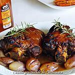 recette Jarret de porc glacé au miel et vinaigre de cidre Kerné aux échalotes confites