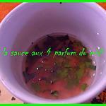 recette LA SAUCE AUX 4 PARFUMS DU MIDI