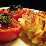 recette Parmentier de morue, tomates provençales