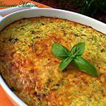 recette Flan de courgettes au basilic et parmesan