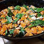 recette Salade tiède de butternut rotie au chèvre