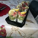 recette Verrines saumon crevettes avocats Boursin