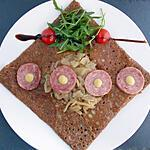 recette Galette bretonne au sarrasin et saucisson de Lyon