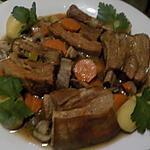 recette Poitrine de veau braisée et ses légumes