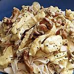recette nouilles dentelée girolle poulet