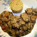 recette Filet de porc façon blanquette et risotto safrané au beurre de truffe