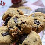recette Cookies beurre de cacahouète chocolat abricots secs