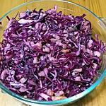 recette choux rouge en salade au ptits lardons