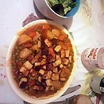 recette Petits pois ,carottes et pommes de terre en sauce tomate