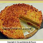 recette Gâteau pommes, papaye