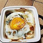 recette Œuf cocotte aux poireaux
