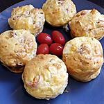 recette muffins pancetta tomates cerise chévre
