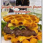 recette GAUFRES POTIMARRON FAÇON HAMBURGER