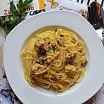 recette Spaghetti au safran et au thon