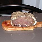 recette Rôti de porc séché ou coppa maison