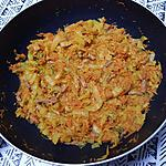 recette Chou blanc et carottes sautés aux épices