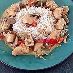 recette mijoté de poulet sauce crèmeuse fromage curry rouge