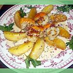 recette noix de st jacques aux pommes