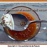 recette Velouté de carottes et lentilles corail, au curry
