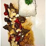 recette Bœuf au saté et au Noix de Cajou Riz gluant
