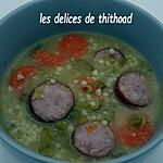 recette soupe de pois cassés et orge perlé